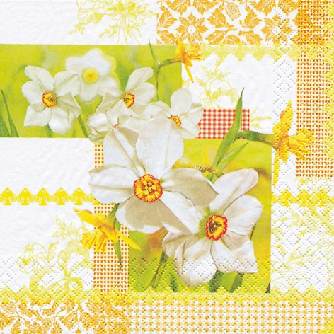 Lunch Servietten Ostern 33 X 33 Cm Design Narcissus Patchwork Ceres Webshop