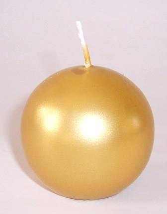 12 Kugelkerzen selbstverlöschend Ø 6 cm - GOLD