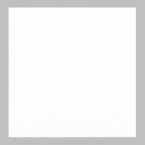 100 Tissue Servietten 33x33 cm UNI weiß