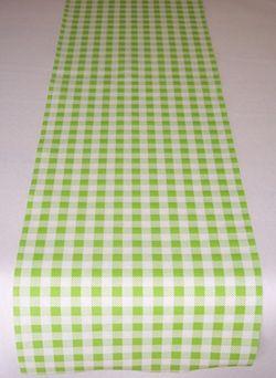 Airlaid Tischband kariert 20cm x 20m - ROBIN grün