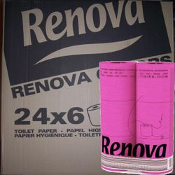 1 VE Pink Fuchsia Toilettenpapier - 24 x 6er Pack (144 Rollen) 001