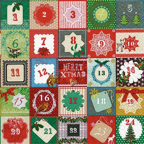 Lunch Serviette Advent - Design 24 DAYS
