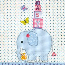 Lunch Taufservietten 33x33 cm bedruckt - Design IT'S A BOY 001