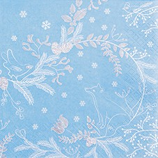 Servietten Winter  33 x 33 cm - Design WINTER WOODS blue