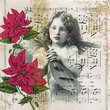 Servietten Winter  33 x 33 cm - Design HEAVENLY MUSIC 001