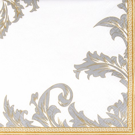 Lunch Serviette 33 x 33 cm - Design LUXURY gold-silber