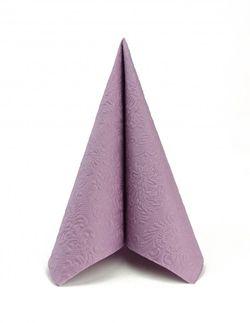 Papierservietten geprägt 33x33cm - Design ELEGANCE UNI pale lilac
