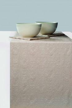 Geprägter Tischläufer - DESIGN ELEGANCE UNI pearl taupe