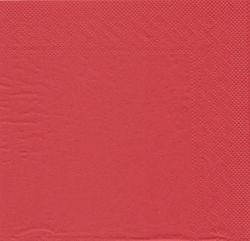 250 Tissue Servietten 33x33 cm UNI rot 001