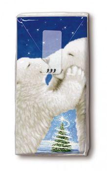 Weihnachtstaschentücher Design POLAR BEAR KISS 001