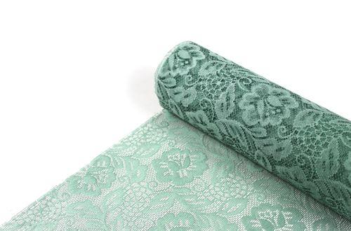 SIZOLACE ® Tischläufer 30 cm x 5 m - Design ROSE pistache