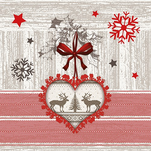 100 Papierservietten 33x33 cm Weihnachten - Design X-MAS HIGHLIGHTS