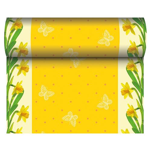 Tischläufer Frühling Ostern 24m x 40 cm - Design DAFFODIL