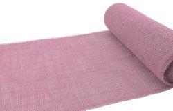 Jute Tischläufer 30 cm x 5 m - PINK ROSE