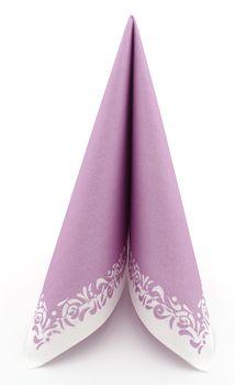 50 Servietten stoffähnlich bedruckt 33x33 cm - ROMANTIQUE pastell lila