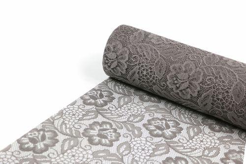 SIZOLACE ® Tischläufer 30 cm x 25 m - Design ROSE taupe braun