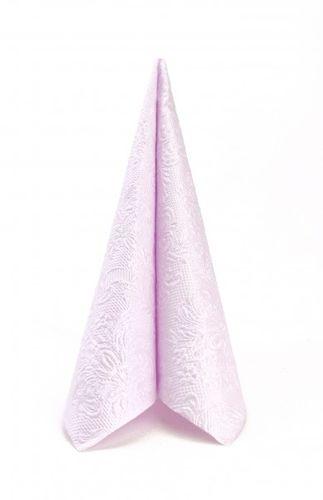 Dinnerservietten geprägt 40x40cm - Design ELEGANCE UNI pearl lilac