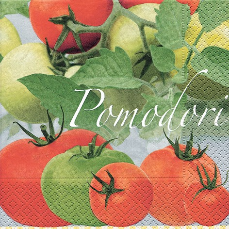Lunch Serviette bedruckt - DESIGN TOMATEN  (POMODORI)
