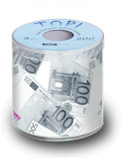 Geschenk Toilettenpapier bedruckt mit Design EURO 001