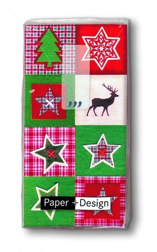 Geschenkidee Weihnachten Taschentücher XMAS PATCHWORK