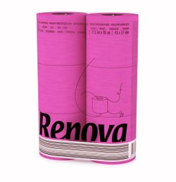 Buntes farbiges Toilettenpapier in Folie PINK FUCHSIA 6 Rollen 001