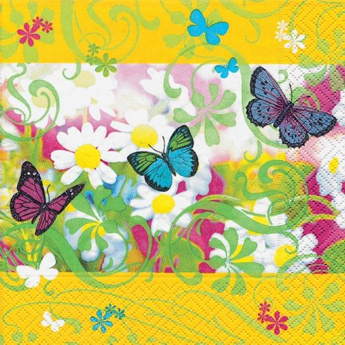 Lunch Serviette bedruckt - DESIGN COLOURFUL SPRING