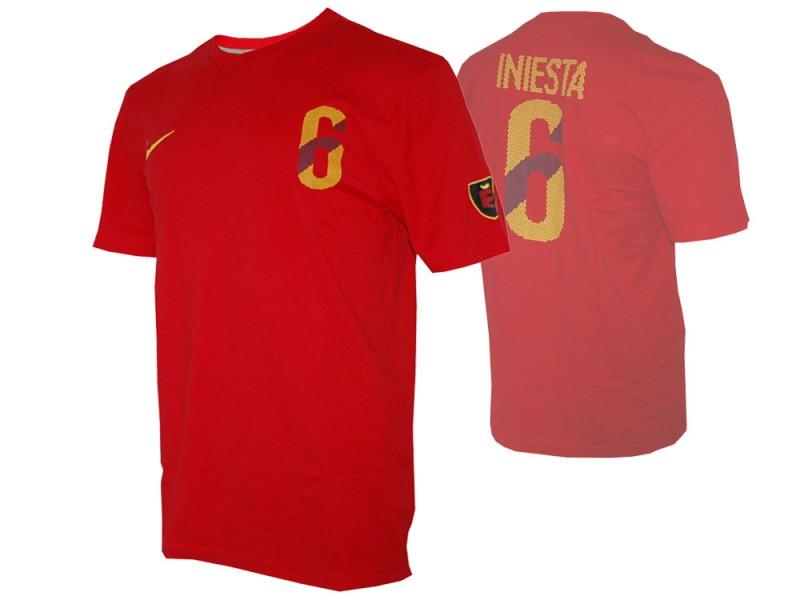 Nike Spanien Hero #6 Iniesta Tee