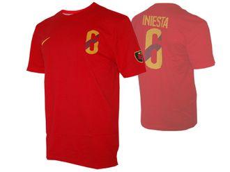 Nike Spanien Hero #6 Iniesta Tee – Bild 1