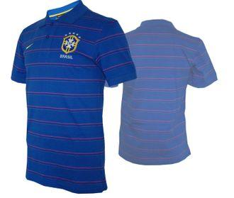 Nike Brasilien Purple Poloshirt – Bild 1