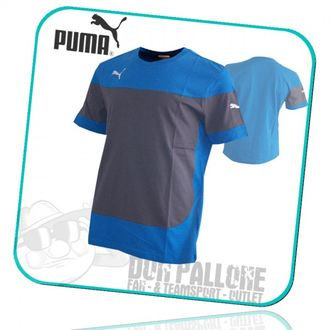 Puma Indomitable Leisure Tee Shirt blau