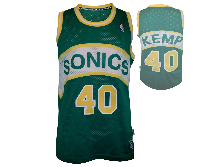 adidas Seattle Supersonics #40 Shawn Kemp Basektball Shirt