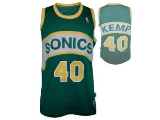 adidas Seattle Supersonics #40 Shawn Kemp Basektball Shirt – Bild 1