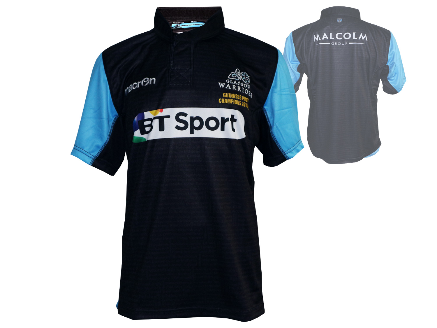 Macron Glasgow Warriors Home Rugby Jersey