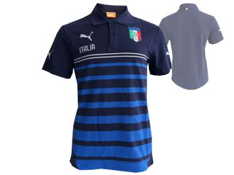 Puma Italien Poloshirt FIGC Hooped Polo