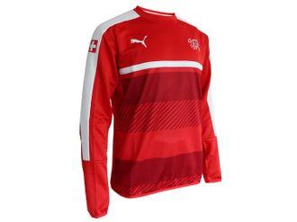 Puma Schweiz Training Sweatshirt rot – Bild 2