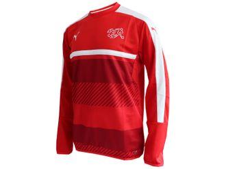Puma Schweiz Training Sweatshirt rot – Bild 3