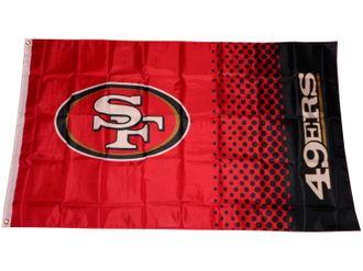 San Francisco 49ers Fahne NFL Fade Flag – Bild 1