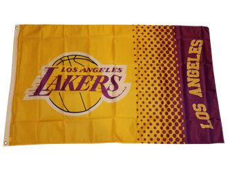 Los Angeles Lakers Fahne NBA Fade Flag – Bild 1