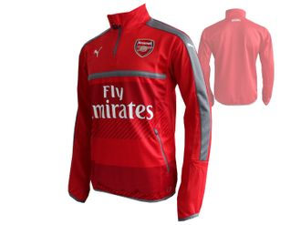 Puma Arsenal London Training Shirt 1/4 Zip with Sponsor