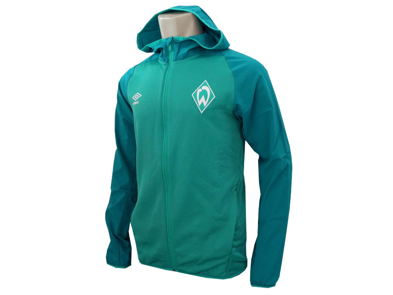 Umbro Werder Bremen Kapuzenjacke grün SVW Hoody Fan Jacke Bundesliga Gr.S XXL