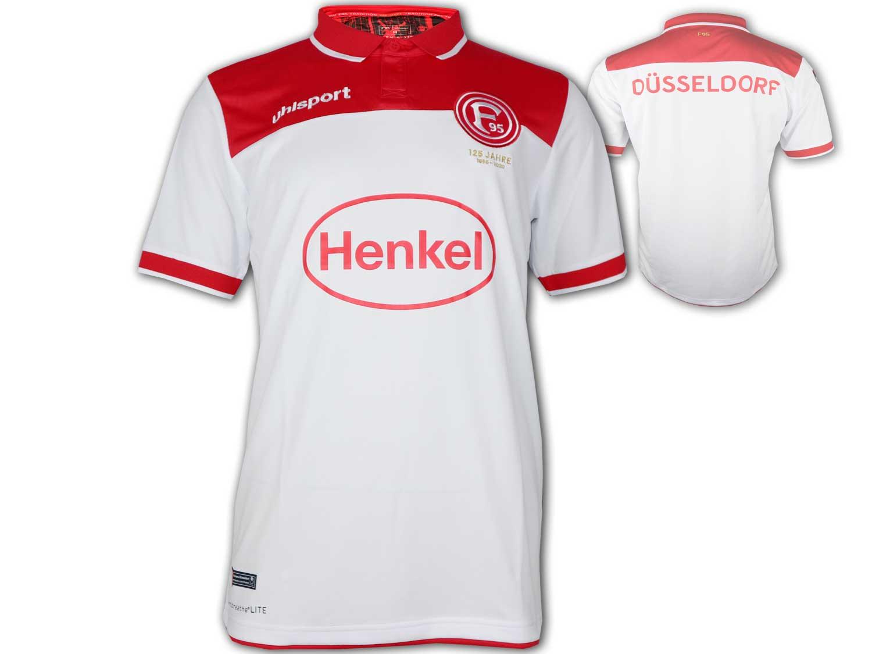 uhlsport Fortuna D/üsseldorf T-Shirt schwarz F95 Fan Shirt Fanartikel Jersey