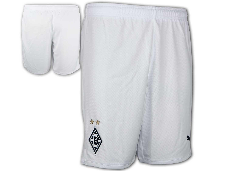 XXL Puma Borussia Mönchengladbach Home Short weiß BMG Hose mit Innenslip Gr S