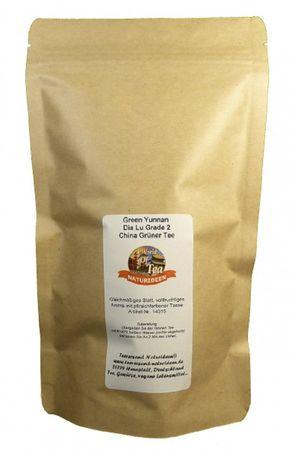 Green Yunnan Dia Lu Grade 2 China Grüner Tee Naturideen® 100g – Bild 2
