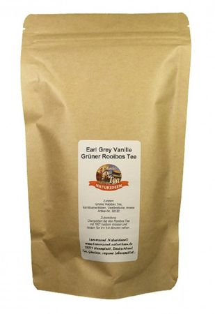 Earl Grey Vanille Grüner Rooibos Tee Naturideen® 100g – Bild 2