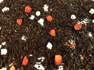 Ananas Erdbeere Schwarzer Tee Naturideen® 100g – Bild 1