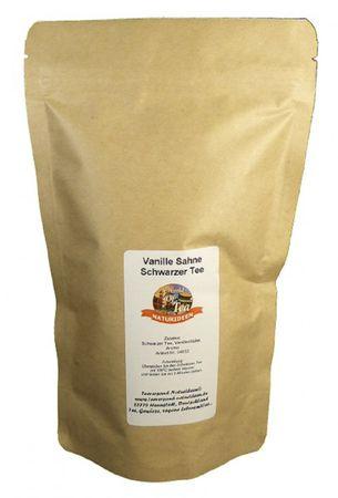 Vanille Sahne Schwarzer Tee Naturideen® 100g – Bild 2