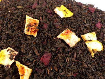 Sizilianische Blutorange Sanguinello Schwarzer Tee Naturideen® 100g – Bild 1