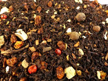 Sanddorn Chai Schwarzer Tee Naturideen® 100g – Bild 1