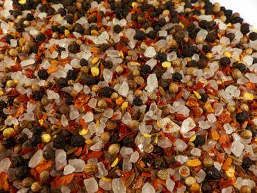 Mexikanisches Pfeffer-Chili-Gewürzsalz grob für die Mühle Naturideen® 100g – Bild 1