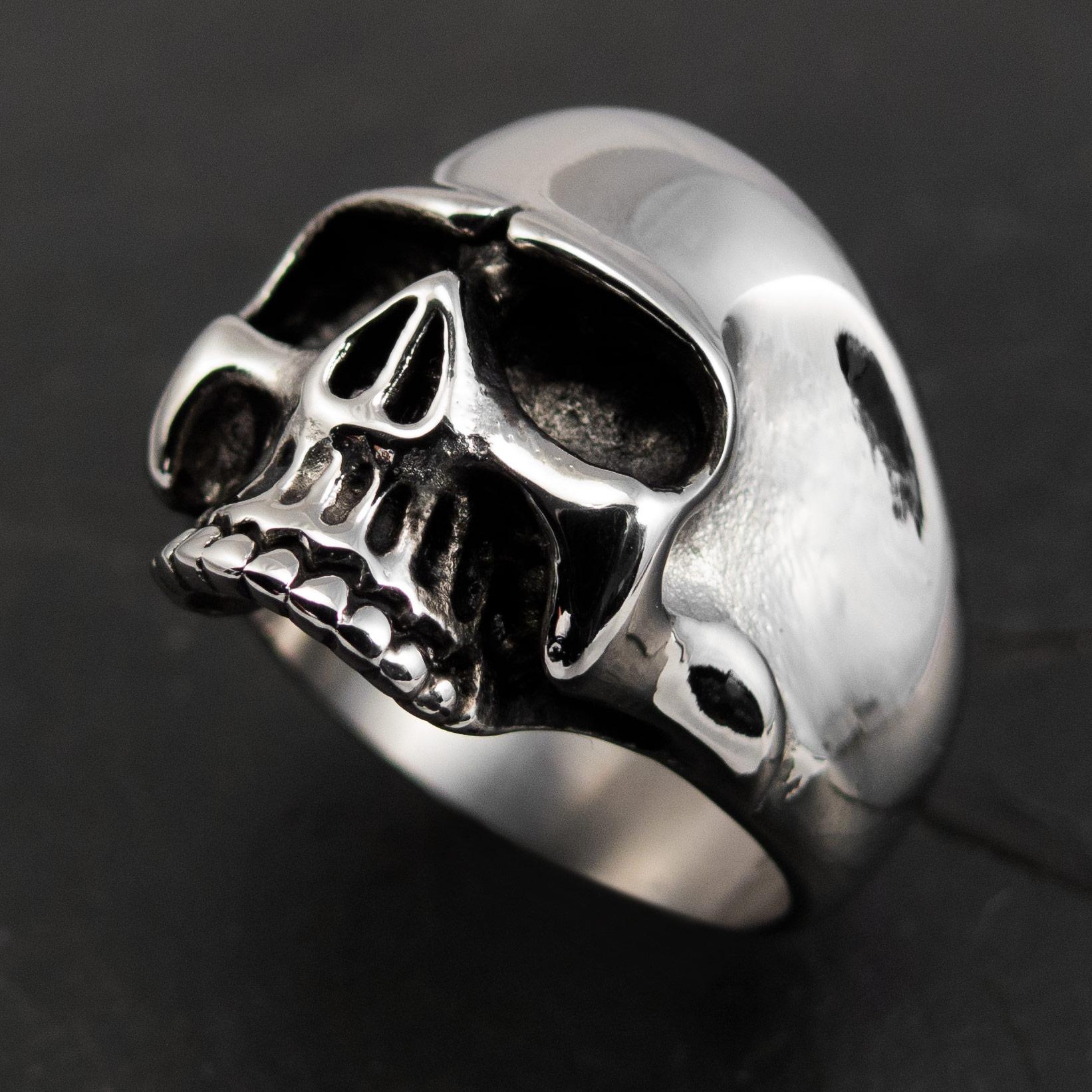 Klassischer Totenkopf-Ring Keith Richards aus 316L Edelstahl